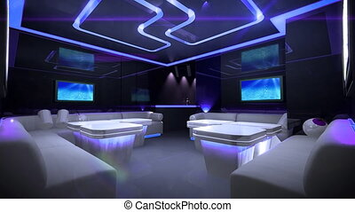 couleur, cyber, club, mené, salle