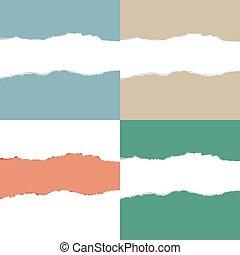 couleur, déchiré, ensemble, papier