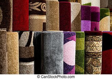 couleur, détail, surface, spécifique, textured, moquette,...