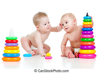 couleur, développemental, enfants jouer, jouets