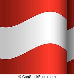 couleur d'arrière-plan, à, drapeau ondulant, de, autriche