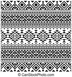 couleur dessin, blanc, géométrie, ethnique, seamless, vecteur, texture, modèle, noir