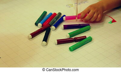 couleur, -, dessin, marqueurs