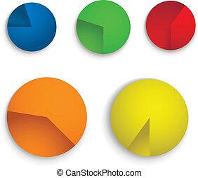couleur, diagramme circulaire, diagramme, collection