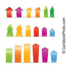 couleur, différent, bookmarks