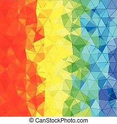 couleur, différent, triangles, résumé, fond