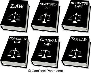 couleur, droit & loi, -, livres, une