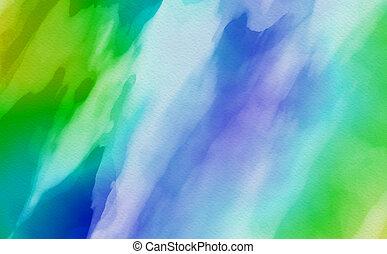 couleur eau, arrière-plan., art abstrait, main, peinture