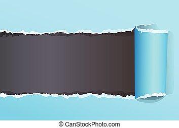 couleur, emballé, papier déchiré, espace
