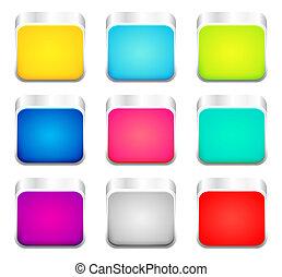couleur, ensemble, apps, icônes