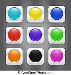 couleur, ensemble, apps, icons.