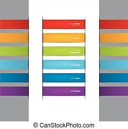 couleur, ensemble, autocollants