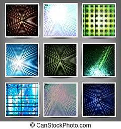 couleur, ensemble, backgrounds., grand, technique