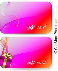 couleur, ensemble, carte don
