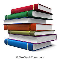 couleur, ensemble, livres