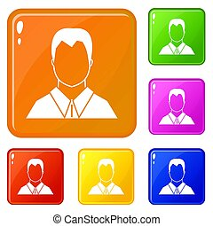 couleur, ensemble, utilisateur, icônes