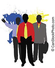 couleur, equipe affaires