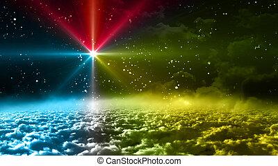 couleur, espace, étoile, nuit