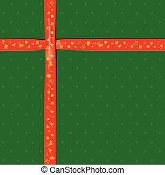 couleur, festival, papier, vert, ruban, noël, rouges