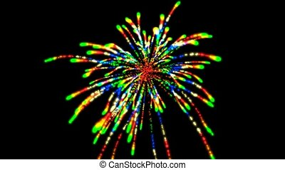 couleur, feux artifice
