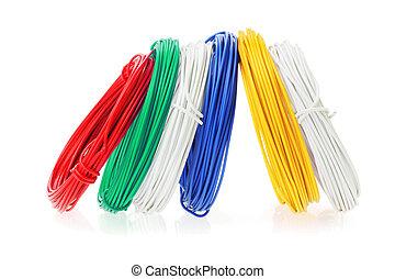 couleur, fils, bobines