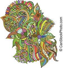 couleur, floral, résumé, fond