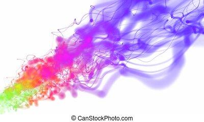 couleur, fluide, 3d