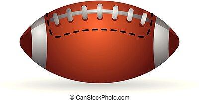 couleur, football, -, icône