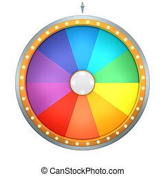couleur, fortune, roue, arc-en-ciel