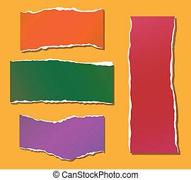 couleur, fragments, papier