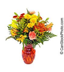 couleur, frais, automne, arrangement fleur