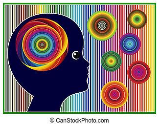 couleur, gosses, thérapie