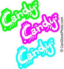 couleur, graffiti, bonbon