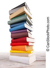 couleur, grand, différent, livre, tour