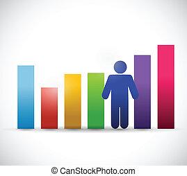 couleur, graphique, affaires illustration, gens