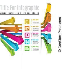 couleur, infographic, options, flèche