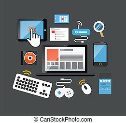 couleur, interface, icônes