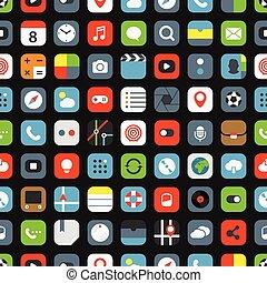 couleur, interface, icônes, seamless, fond
