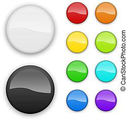 couleur, isolé, arrière-plan., gabarit, vide, blanc, insignes