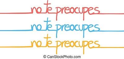 couleur langue, espagnol, pas, message, souci