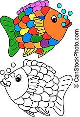 couleur, livre, coloration, jeune enfant