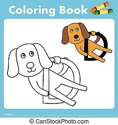 couleur, livre, illustrateur, chien, animal