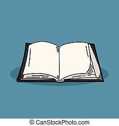 couleur, livre, illustration, fond