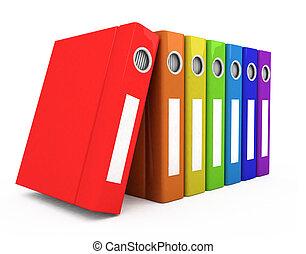 couleur, livres, business, 3d