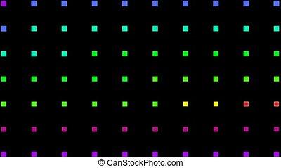 couleur, lumière, carrée, néon, fond