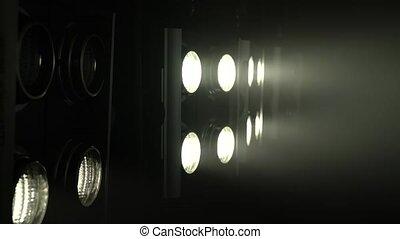 couleur, lumière, créer, grand, musique, scintiller, projecteurs