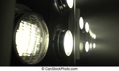 couleur, lumière, créer, haut, grand, musique, scintiller, fin, projecteurs