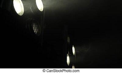 couleur, lumière, créer, musique, scintiller, searchlights