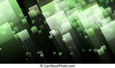 couleur, lumière, futuriste, carrés clignotants, animation, vidéo, boucle, changer, 1080p, hd