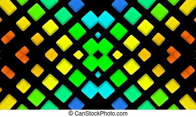 couleur, lumière, mosaïques, matrice